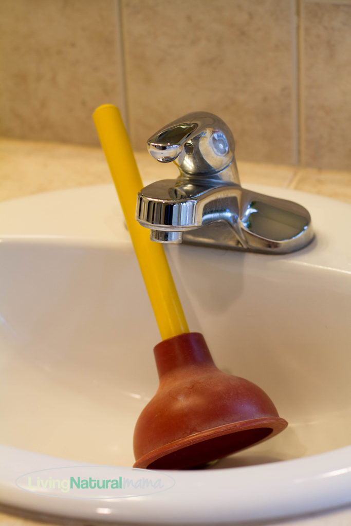 Clogged drain plunger